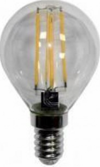 BEC WELL 4W LUMINA CALDA GLOB MIC E14 FILAMENT Corpuri de iluminat