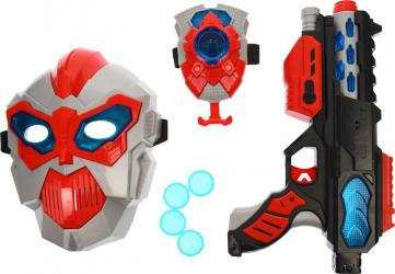Pistol de jucarie cu sunete bratara lansator masca SPACE WEAPON - KT8889F60 Jucarii