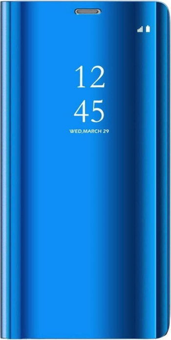 Husa Xiaomi Redmi Note 9 Pro / Redmi Note 9S Flip / Book / Carte Functie Stand Clear View Albastru Huse Telefoane