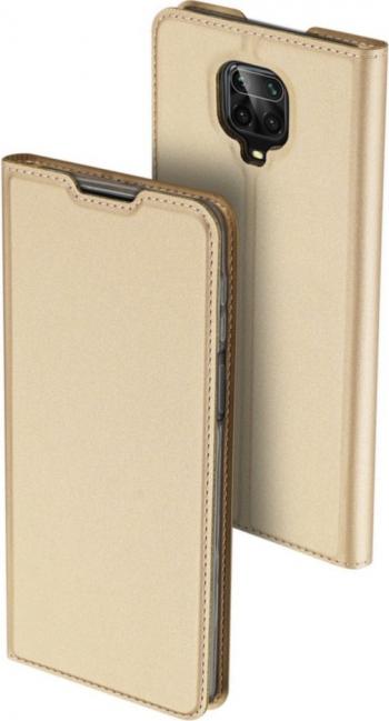 Husa Xiaomi Redmi Note 9 Pro / Redmi Note 9S Flip / Book Stand si Buzunar Card DUX DUCIS Piele Ecologica Gold Huse Telefoane