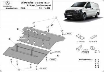 Scut auto metalic motor cutie de viteza Mercedes Vito W639 2003- Mercedes Viano 2003- Scuturi auto
