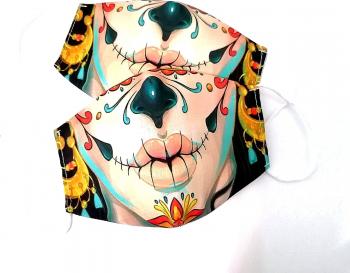 Masca protectie reutilizabila din bumbac cu imprimeu Joker kiss 2 straturi ACD509 - 23h Events Masti chirurgicale si reutilizabile