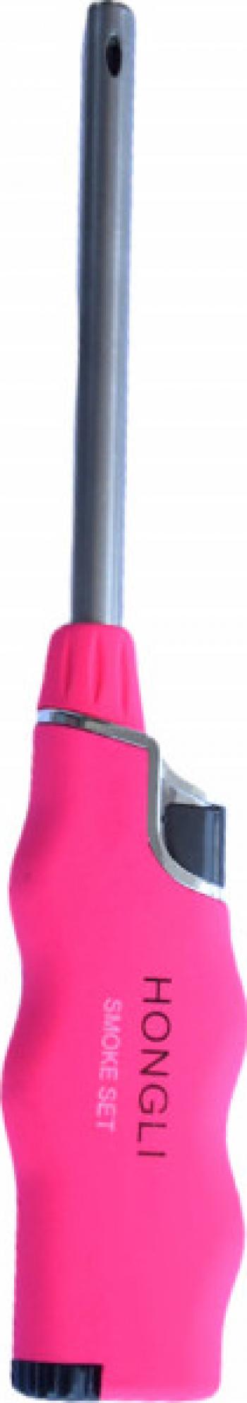 Aprinzator reglabil si reincarcabil pentru aragaz tip bricheta roz Accesorii bucatarie