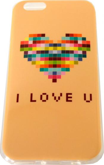 Carcasa Husa de protectie Apple iPhone 6 / 6S Model Pixel hearth TPU Viceversa