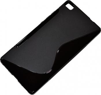 Carcasa Husa de protectie Huawei P8 S-line Black Negru Huse Telefoane