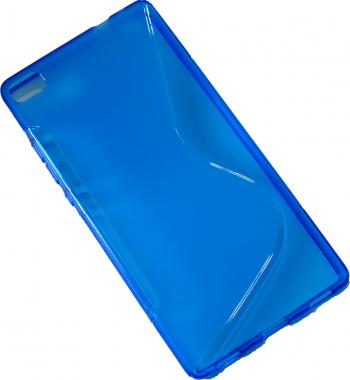 Carcasa Husa de protectie Huawei P8 S-line Blue Albastru