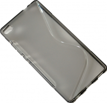 Carcasa Husa de protectie Huawei P8 S-line Grey Gri Huse Telefoane