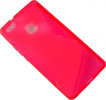 Carcasa Husa de protectie Huawei P9 Lite S-line Pink Roz Grip lateral Protectie A++