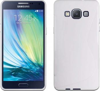 Carcasa Husa de protectie Samsung Galaxy A7 A700 2015 S-line White Huse Telefoane