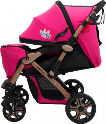 Carucior Sport Jolly Kids pentru Copii cu Bara de protectie Frana Dubla Materiale de Calitate Superioara Centura de Siguranta inclusa Carucioare copii
