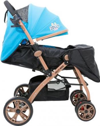 Carucior Sport Jolly Kids pentru Copii cu Bara de protectie Roti Duble Materiale de Calitate Superioara Centura de Siguranta inclusa