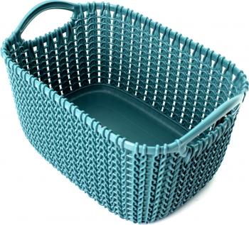 Cos de plastic dreptunghiular impletit Curver knit 8 L