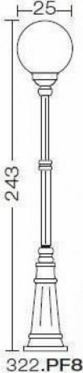 EXTERIOR AMALFI 322.PF8 Corpuri de iluminat