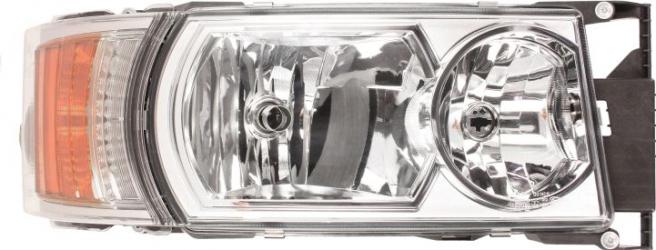 Far dreapta 4LED/8LED/H1/H21W/H7 electric crom cu Semnalizator fundal crom culoare Semnalizator portocaliu SCANIA P G R T dupa 2012 Sistem iluminat
