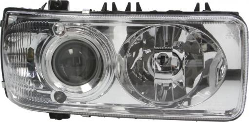 Far dreapta D2S/H1/PY21W/W5W electric fara invertor fundal crom culoare Semnalizator alba DAF CF 65 CF 75 CF 85 XF 105 XF 95 dupa 2001 Sistem iluminat