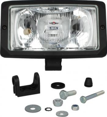 Far universala stanga/dreapta 24V latime 242mm inaltime 133mm transparent negru Sistem iluminat