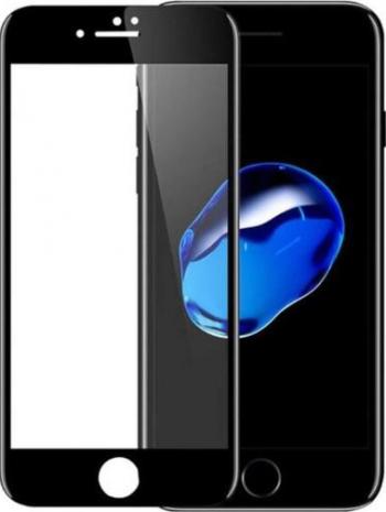 Folie sticla securizata SiiPRO tempered iPhone 7/8 plus Bord Negru