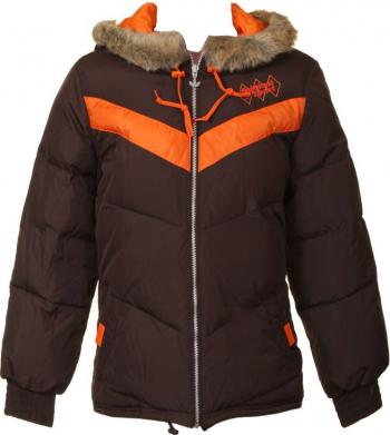 Geaca adidas junior Originals Sport de iarna culoare maro marimea XS potrivita pentru 10-13 ani