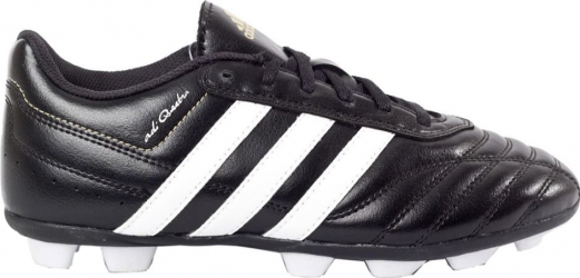 Ghete fotbal Adidas adiQuestra HG Junior negru-alb marimea 36.2/3