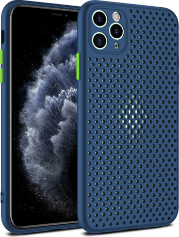 Husa G-Tech Breath Apple iPhone 11 Pro Carcasa impotriva supraincalzirii telefonului TPU Anti alunecare Albastru Huse Telefoane