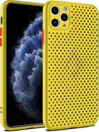 Husa G-Tech Breath Apple iPhone 11 Pro Carcasa impotriva supraincalzirii telefonului TPU Anti alunecare Galben Huse Telefoane