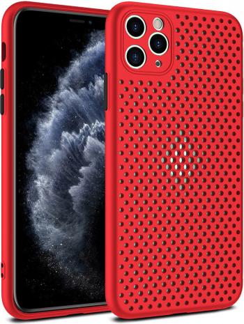 Husa G-Tech Breath Apple iPhone 11 Pro Carcasa impotriva supraincalzirii telefonului TPU Anti alunecare Rosu Huse Telefoane