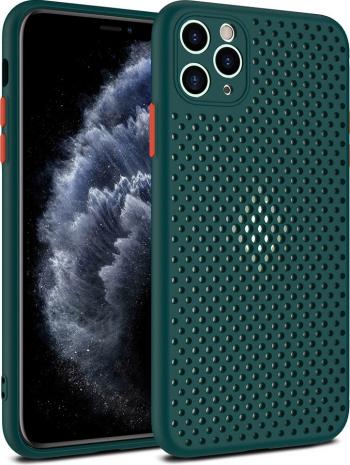 Husa G-Tech Breath Apple iPhone 11 Pro Carcasa impotriva supraincalzirii telefonului TPU Anti alunecare Verde Huse Telefoane