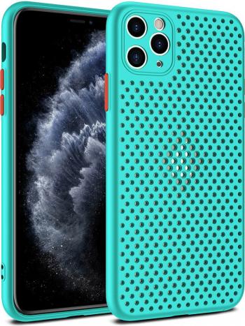 Husa G-Tech Breath compatibila cu Apple iPhone 11 Pro Carcasa impotriva supraincalzirii telefonului TPU Anti alunecare Turcoaz Huse Telefoane