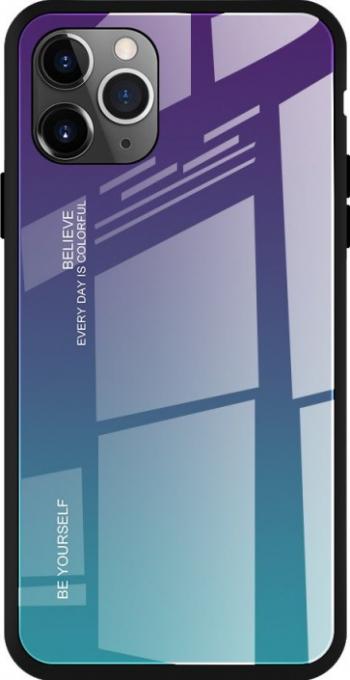 Husa iPhone 11 Pro Glass Series Gradient - Albastru Huse Telefoane