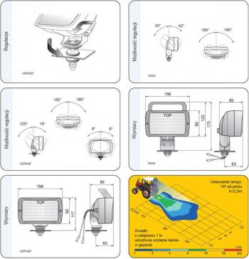 Lampa lucru Sistem electric