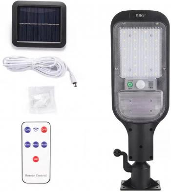 Lampa solara stradala MRG A-JX-516 Panou solar Cu telecomanda Negru Corpuri de iluminat