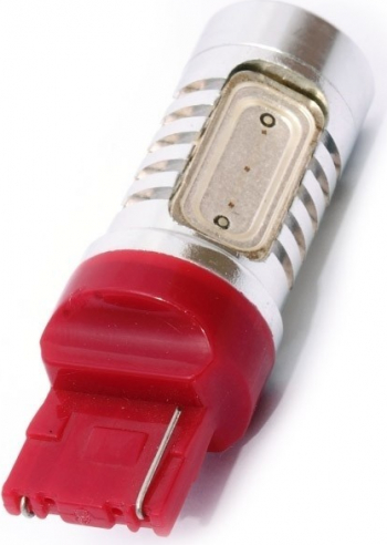 Led auto Rosu T20 7440 6W High Power cu o singura intensitate Proiectoare, Lampi si Leduri
