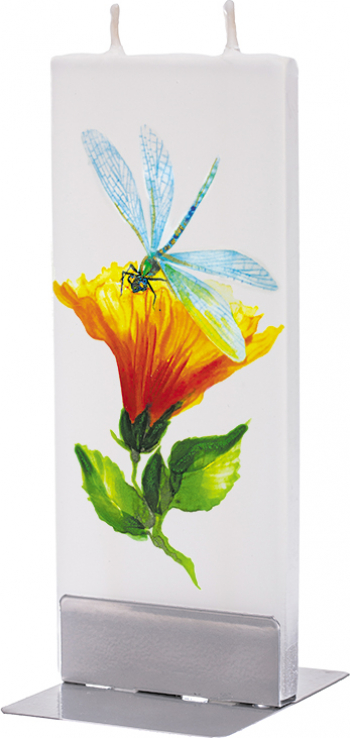 Lumanare Flatyz Dragonfly with Hibiscus