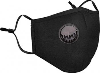 Masca de Protectie Neagra + 2 Filtre Carbon PM2.5 si Valva pentru Expiratie