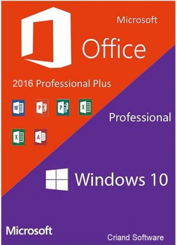 Microsoft Windows 10 Pro Retail + Microsoft Office 2016 Pro Plus Sisteme de operare