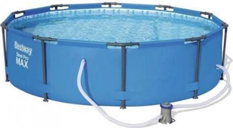 Piscina rotunda Bestway Steel Pro Max Pool cadru metalic pompa de filtrare 366x76 cm