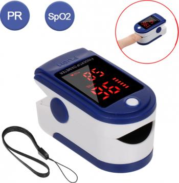 Pulsoximetru cu ecran digital pentru masurarea nivelului de oxigen din sange si a pulsului portabil Pulsoximetre