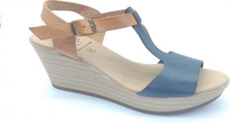 Sandale din piele naturala Fidanzata Bahia Bleumarin 39 EU Incaltaminte dama