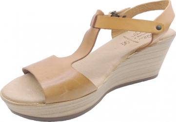 Sandale din piele naturala Fidanzata Bahia Maro deschis 38 EU Incaltaminte dama
