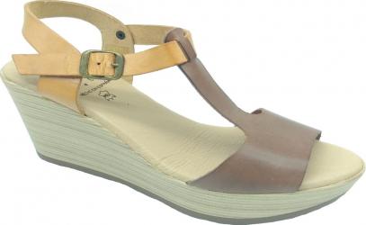 Sandale din piele naturala Fidanzata Bahia Maro inchis 41 EU Incaltaminte dama