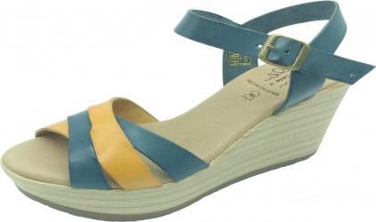 Sandale din piele naturala Fidanzata Condesa Bleumarin 39 EU Incaltaminte dama