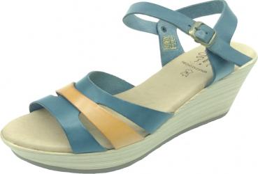 Sandale din piele naturala Fidanzata Laguna Bleumarin 38 EU Incaltaminte dama