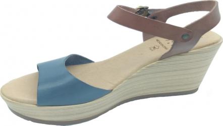 Sandale din piele naturala Fidanzata Paraiso Bleumarin 38 EU Incaltaminte dama