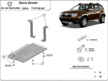 Scut auto metalic diferential Dacia Duster / 4 and times 4 / Aluminiu / 2014 and ndash Scuturi auto