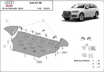 Scut auto metalic motor Audi Q 7 / / 2015- Scuturi auto
