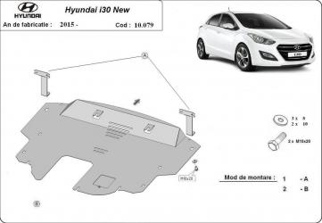 Scut auto metalic motor cutie de viteza Hyundai i30 New / toate motorizarile / 2015- Scuturi auto