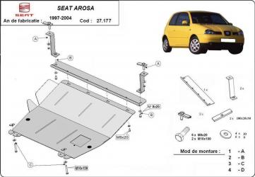 Scut auto metalic motor cutie de viteza Seat Arosa 1997-2004 Volkswagen Polo 1999-2001 Scuturi auto