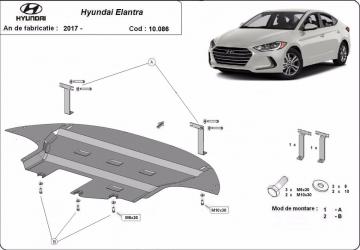 Scut auto metalic motor Hyundai Elantra 2017- / / 2017- Scuturi auto