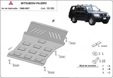 Scut auto metalic motor Mitsubishi Pajero 3 2000-2007 / / 2000-2007 Scuturi auto