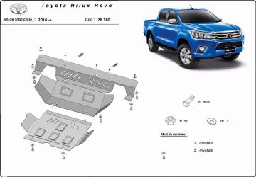 Scut auto metalic motor Toyota Hilux / toate motorizarile / 2016- Scuturi auto